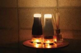 Lumir K candle powered lamp
