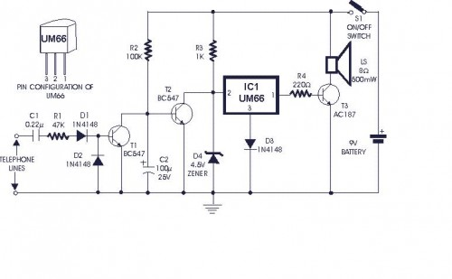 cellular phone calling detector circuit