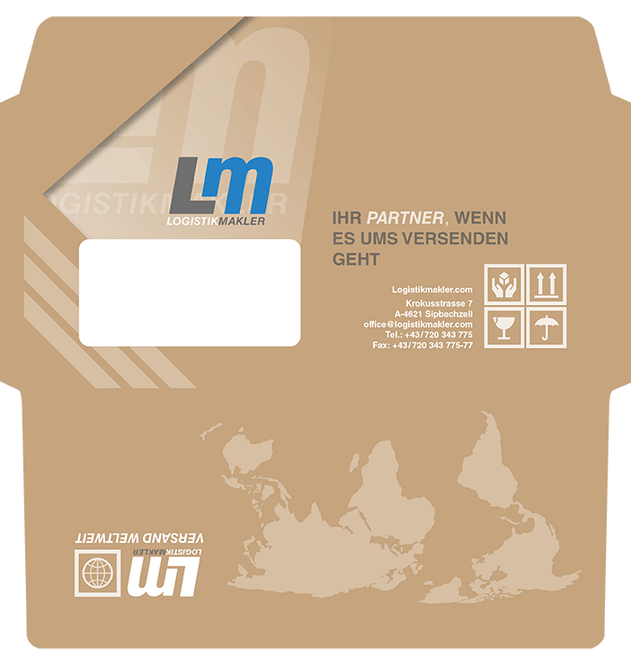 Briefkuvert Logistikmakler.com