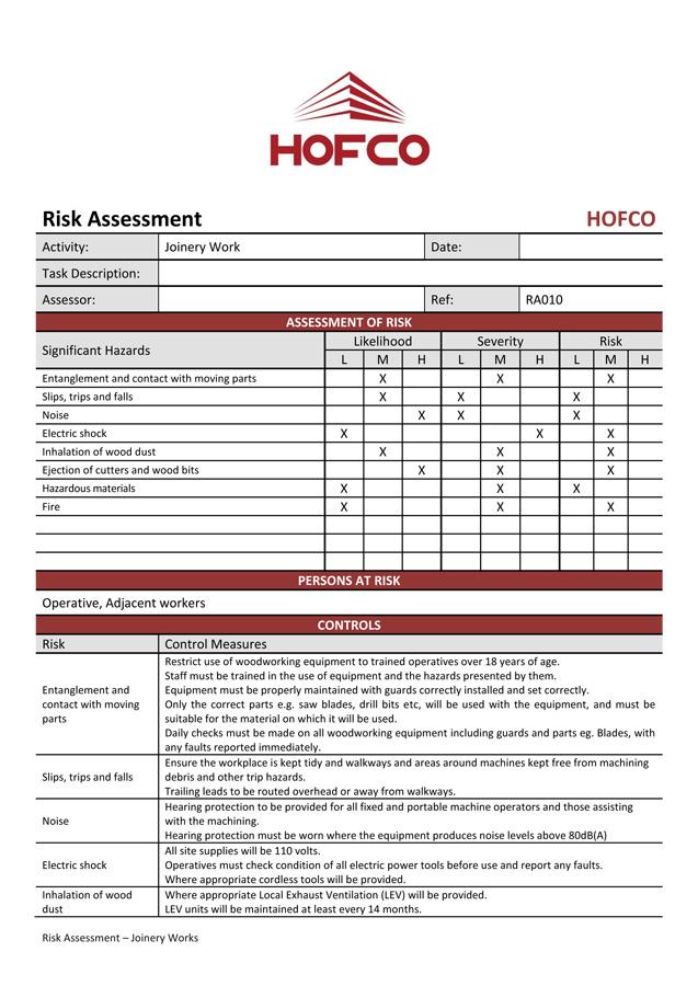 HOFCO Risk Assessment