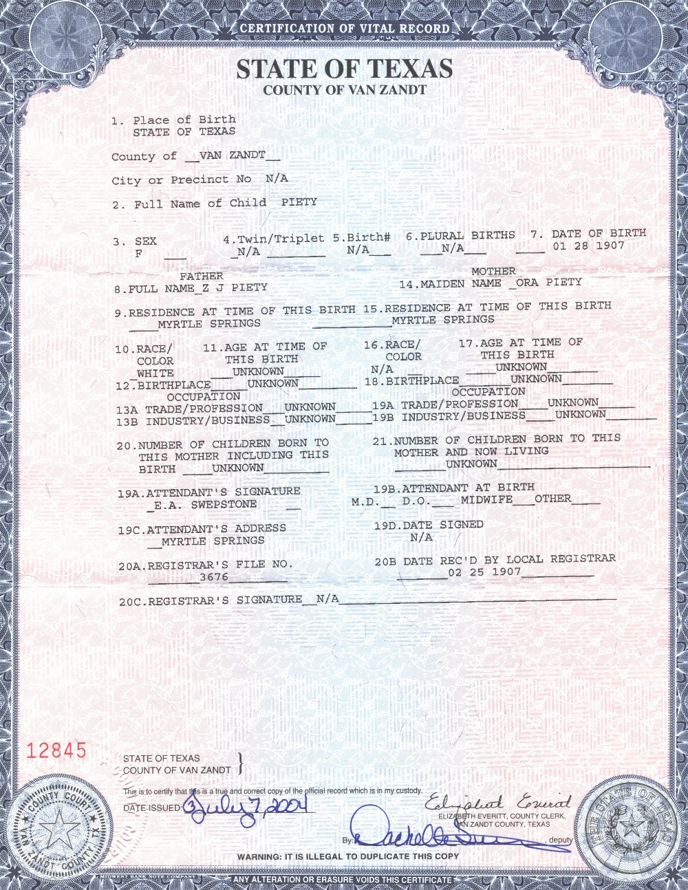 Birth Certificate Template Word – Birth Certificate Template Word