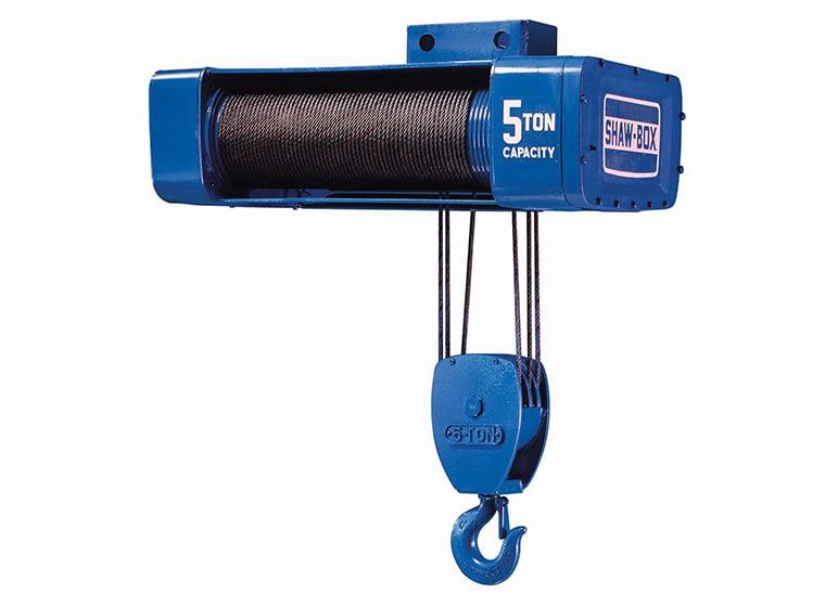 Shaw-Box 1/2-Ton Wire Rope Hoist, 50\u0027 Lift, Y80P5-050S35-1