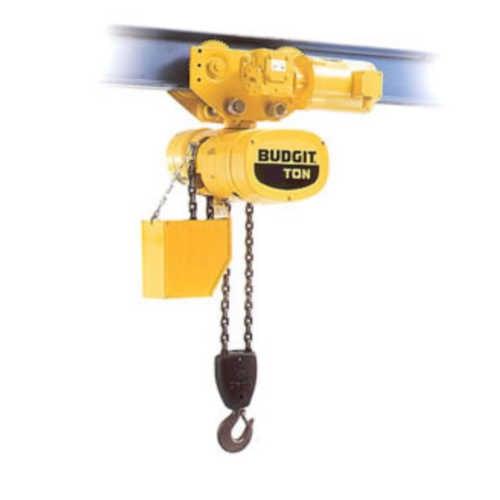 Budgit 2-Ton Electric Hoist, 20\u0027 Lift, Motor Trolley, BEHC0208-1
