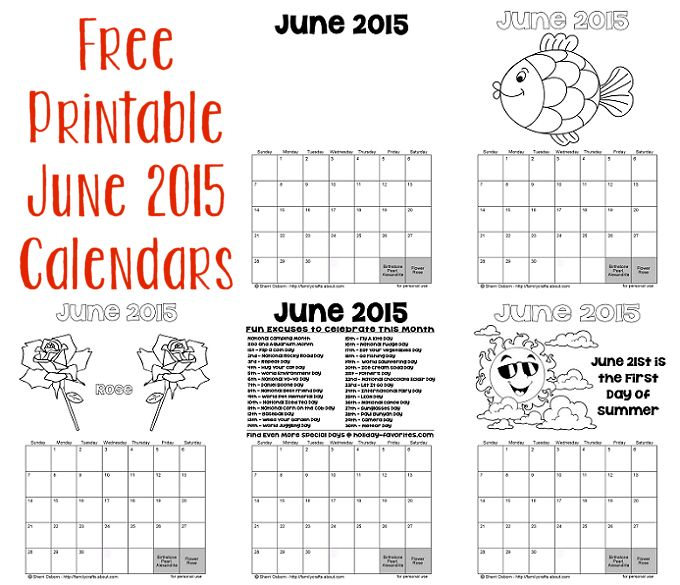 June 2015 Calendar \u2013 BK3