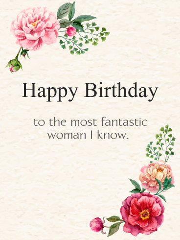 Cute Roses Wallpapers With Wordings To The Most Fantastic Woman Elegant Birthday Flowers