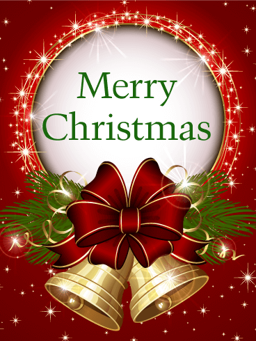 Best Lovely Quotes Wallpapers Shining Christmas Bell Card Birthday Amp Greeting Cards By