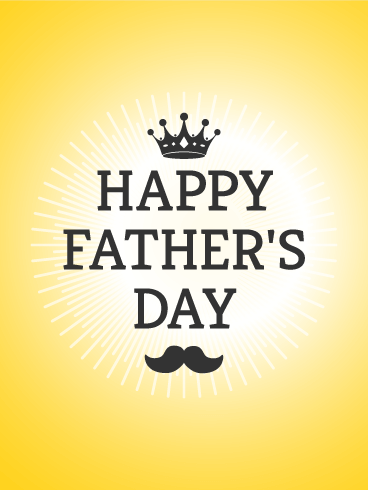 Cute Mustache Wallpaper Crown Father S Day Card Birthday Amp Greeting Cards By Davia