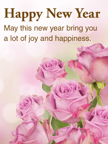 Life Quotes Wallpaper In Hindi Beautiful Pink Rose Happy New Year Card Birthday