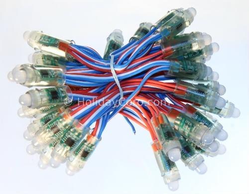 Smart / Pixel LED RGB 8mm / 12mm Nodes / 12v DC