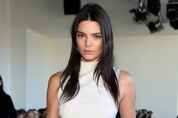 NEW YORK, NY - FEBRUARY 18:  Model, Kendall Jenner, poses at the Calvin Klein Collection Fall 2016 fashion show during New York Fashion Week at Spring Studios on February 18, 2016 in New York City.  (Photo by Michael Loccisano/Getty Images)