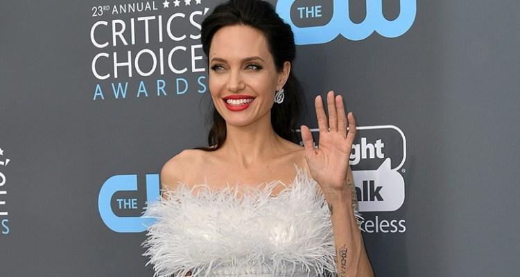 Mandatory Credit: Photo by Rob Latour/REX/Shutterstock (9315352dg) Angelina Jolie Critics' Choice Awards, Arrivals, Los Angeles, USA - 11 Jan 2018