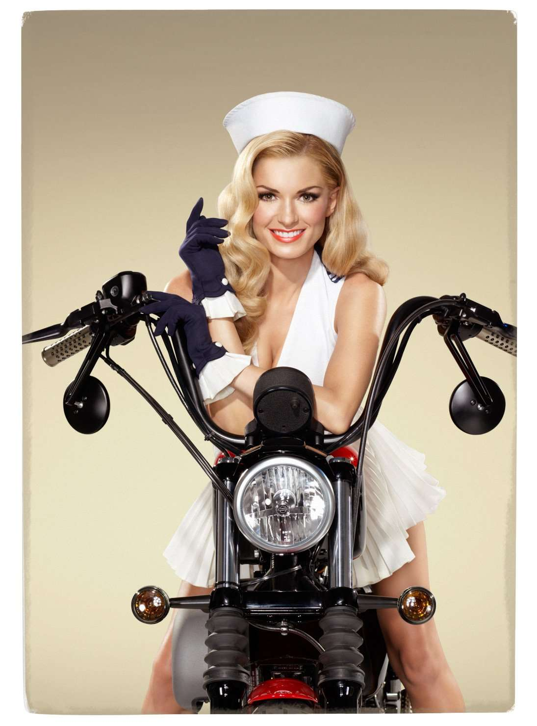 Ww2 Pin Up Girl Wallpaper Soldier Pin Up Marisa Miller Is A Closet Harley Rider