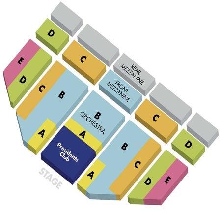 Seating Charts Hollywood Pantages