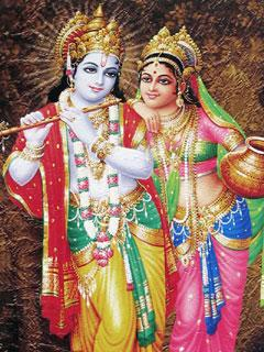 Krishna Radha Wallpaper With Quotes 240x320 Mobile Wallpapers Radha Krishna Mobile Wallpaper