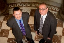 Neil Johnston (left) with Scott Mitchell, Commercial Director at Surgeon's Hall