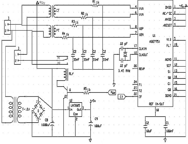 circuit diagram of digital isolation and termination