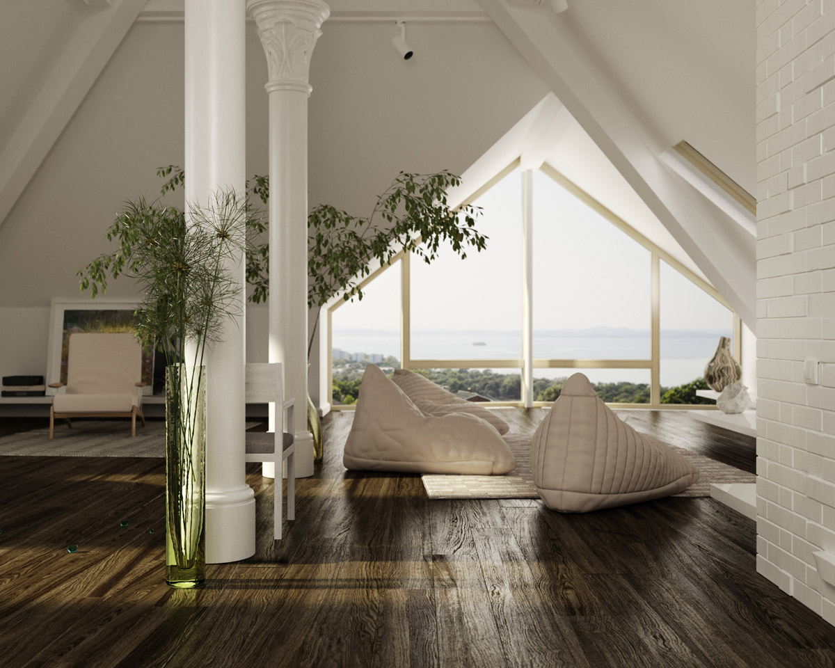 Rooms With Slanted Ceilings