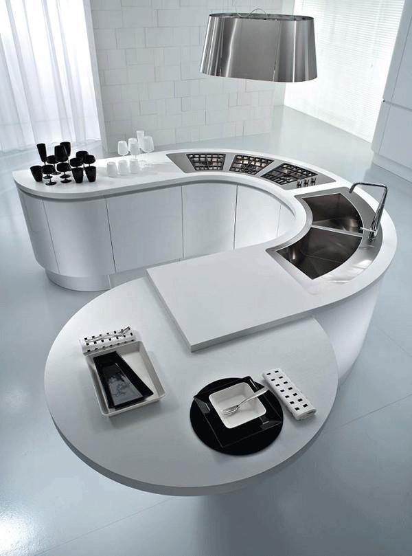 22 Contemporary Kitchen Design Ideas, White Kitchens Island