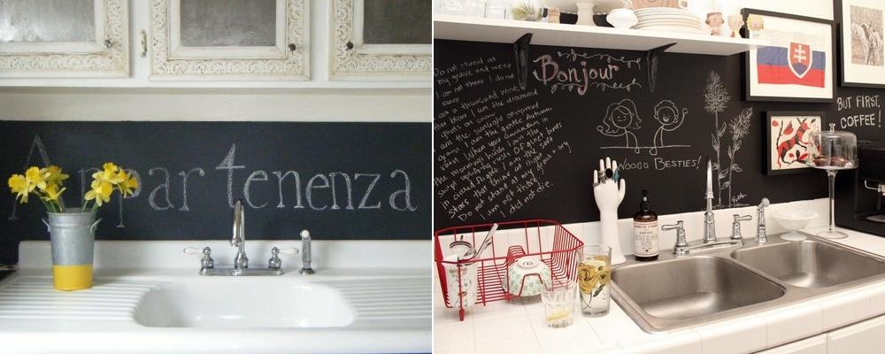 black-board-backsplashjpg 1,000×400 pixels Blackboards - schöner wohnen küchen