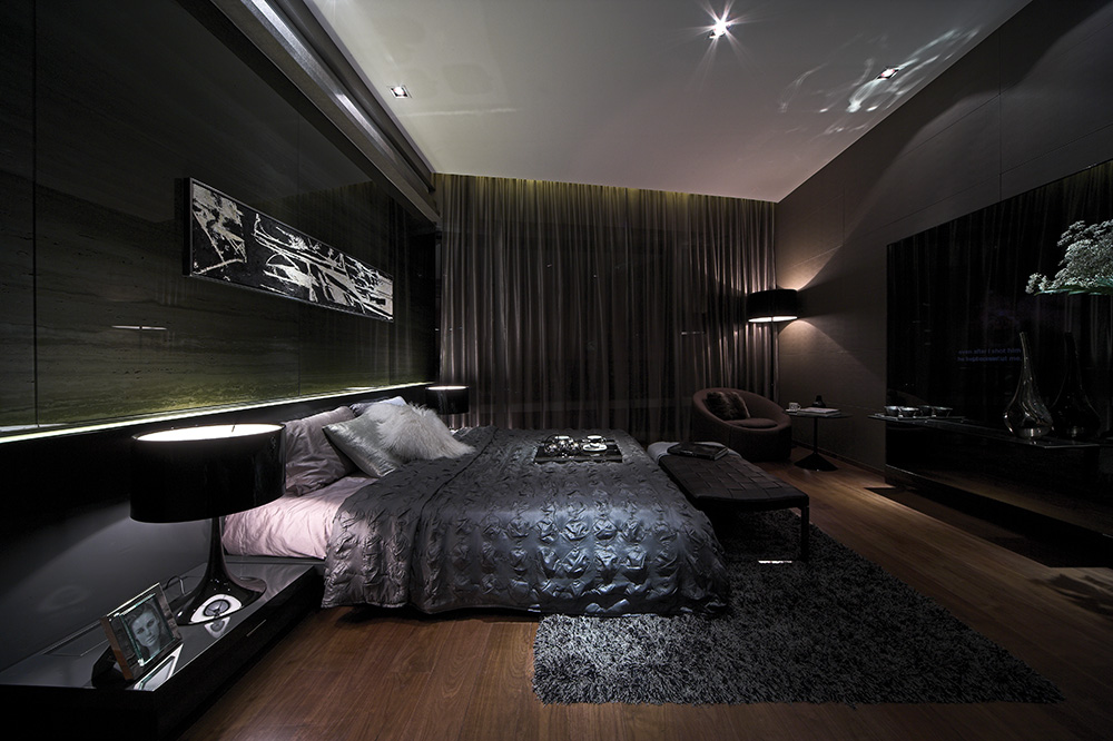 15 best Masculine Bedrooms images on Pinterest Home - dark bedroom ideas