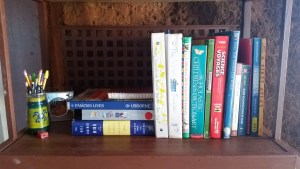 Reference and often used books and binders