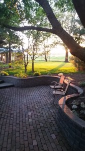 My dad's back patio in Illinois that I envy