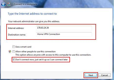 PPTP VPN Client Setup in Windows Vista