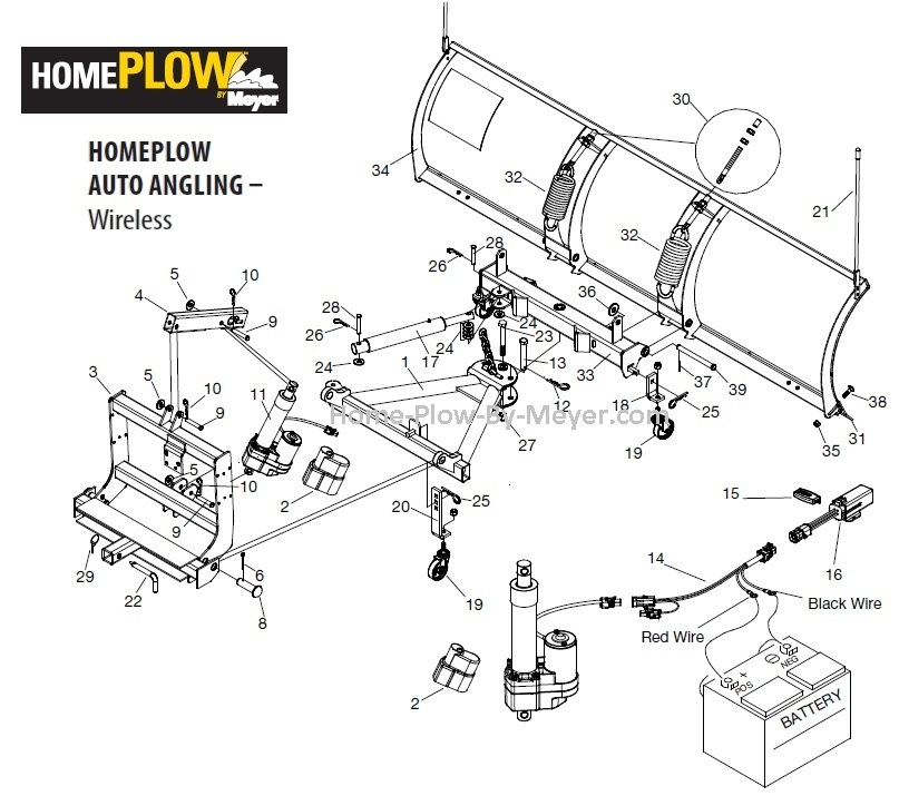 Home Plow By Meyer - Parts Diagrams and Part Number Lists - Home