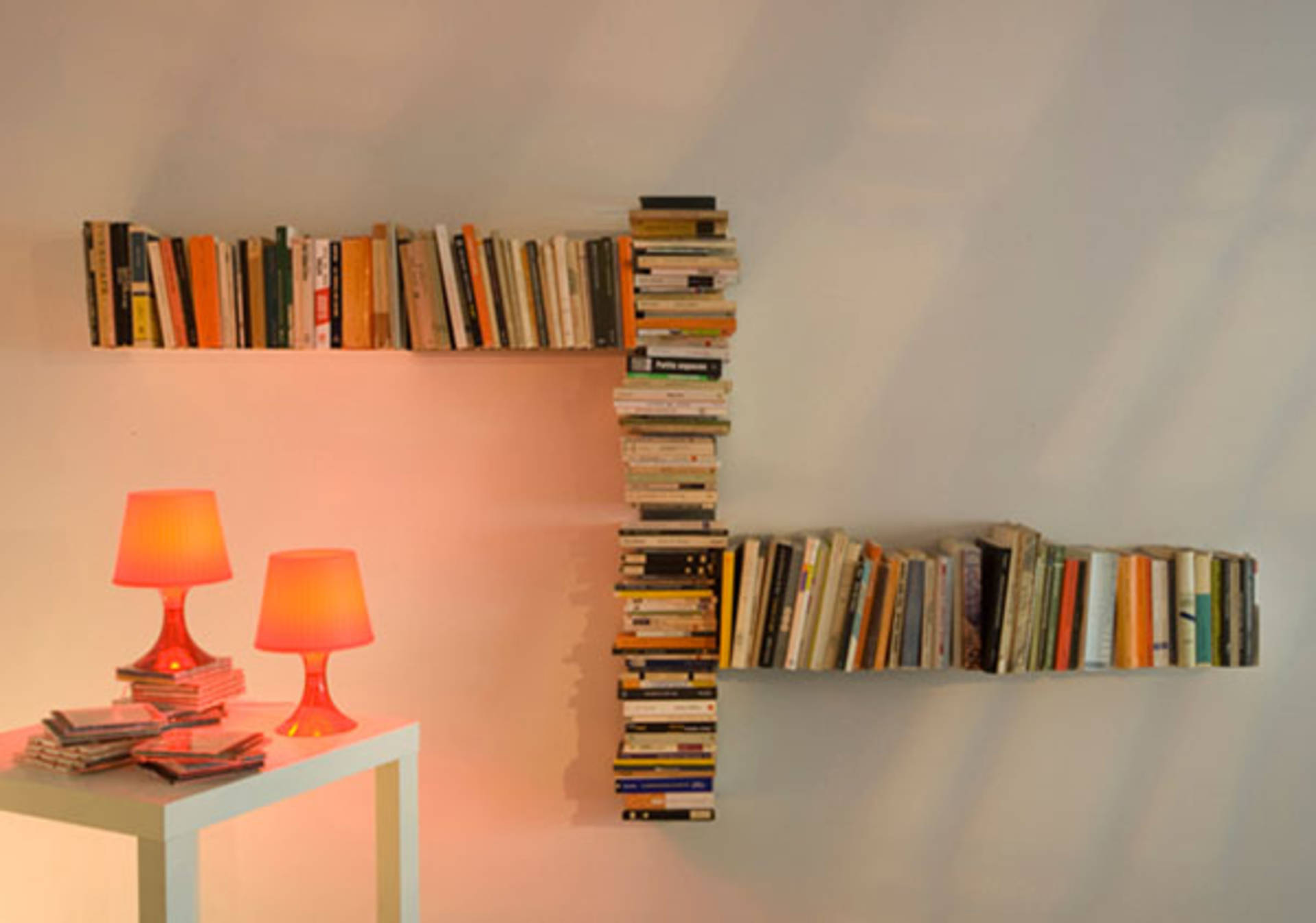 Invisible Teebooks Shelving System By Mauro Canfori Home Reviews