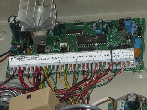 Alarm System Wiring for the Main Panel