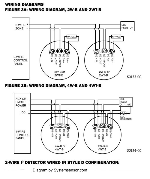 4 wire smoke detector wiring diagram hai
