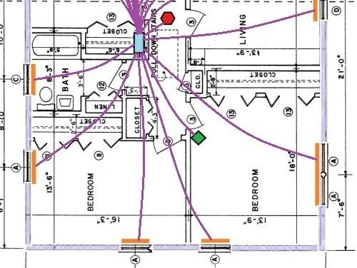 smart home wiring diagram door