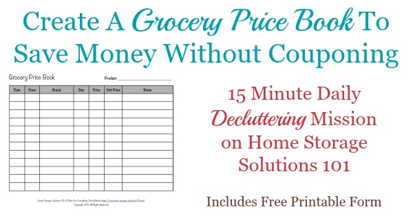 Grocery Price Book Use It To Compare Grocery Prices In Your Area