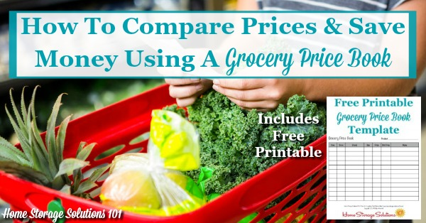 Grocery Price Book Use It To Compare Grocery Prices In Your Area - grocery price book template excel