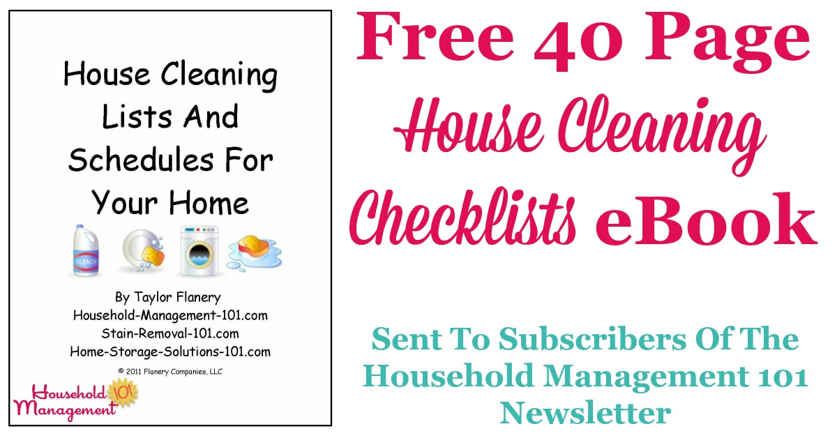 Free House Cleaning Checklist Ebook To Help You Keep Your Home Clean