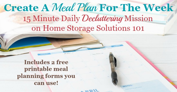 Printable Weekly Meal Planner Template - breakfast lunch and dinner meal plan for a week