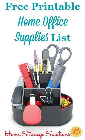 Free Printable Home Office Supplies List - printable office supply list