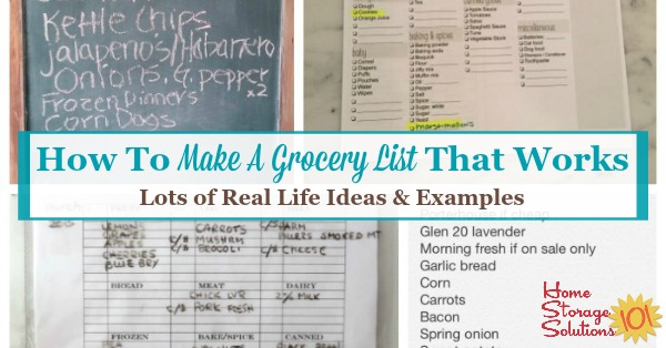 How To Make A Grocery List That Works - grocery list examples