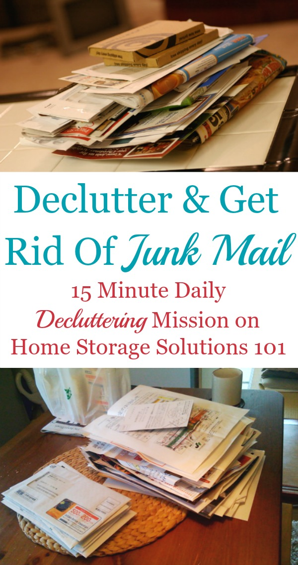 How To Declutter  Get Rid Of Junk Mail