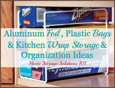 Aluminum Foil Plastic Bags Kitchen Wrap Storage