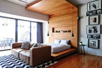Bedroom design ideas: Stylish pendant lamp and bed ...