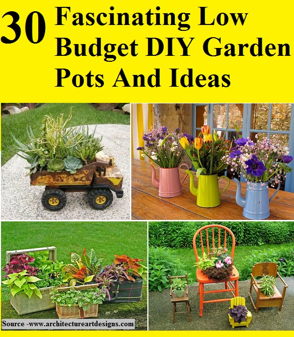 Gardening In Pots 30 Fascinating Low Budget DIY Garden Pots And Ideas - HOME and LIFE TIPS