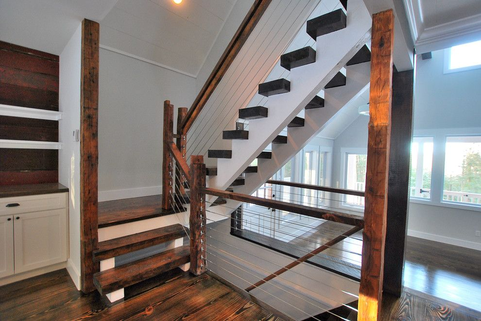 Knox Rail Salvage For A Rustic Staircase With A Catskill Farm And