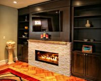 Kozy Heat for a Contemporary Living Room with a Built Ins ...