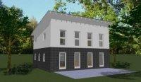 grozgiges, modernes Haus mit Pultdach - HomeBooster