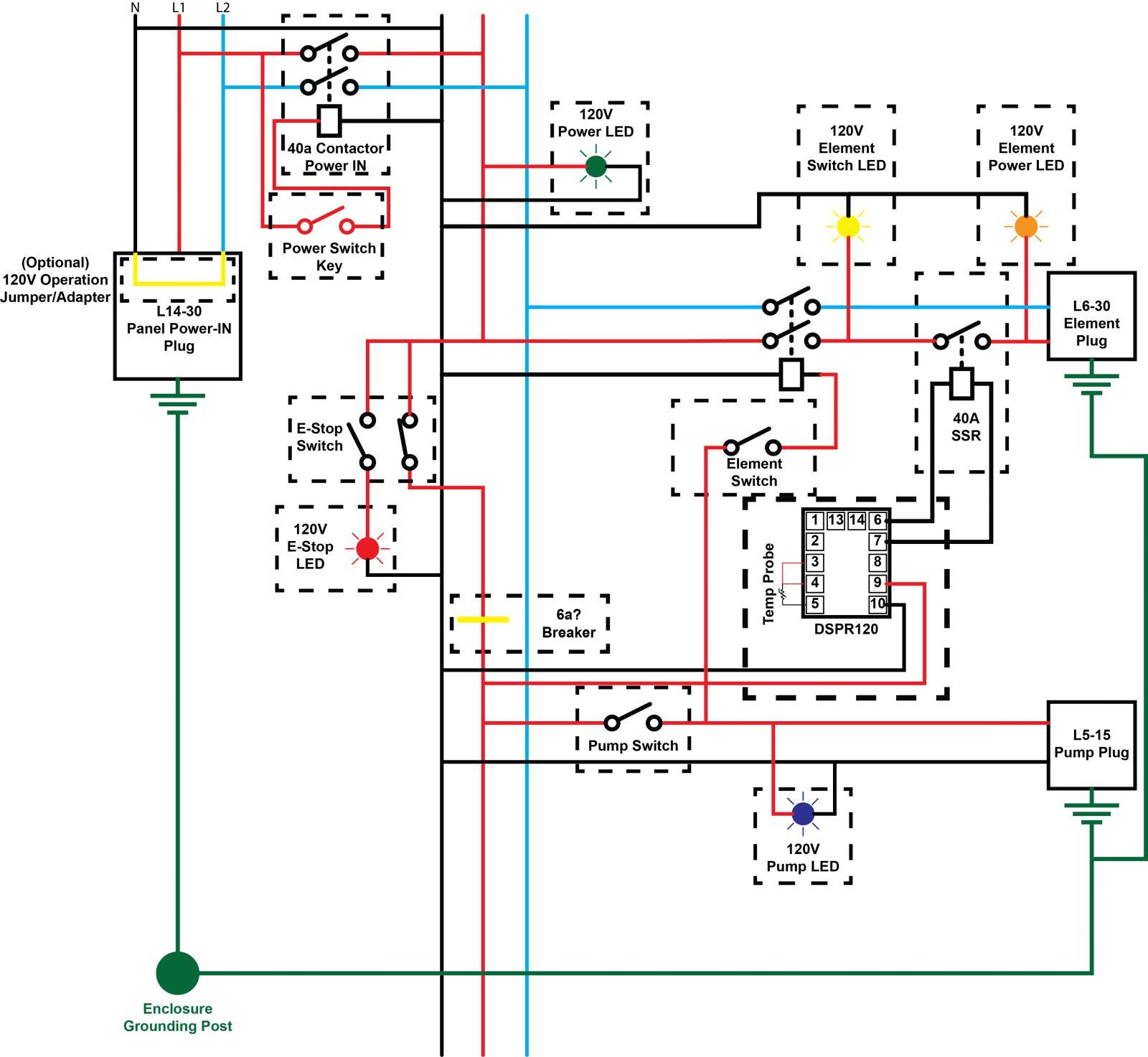 rims single element wiring diagram