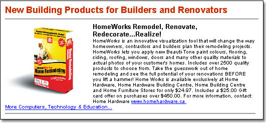 Home Builder Canada - Ad sample