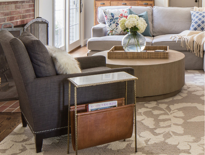 Renovated Home with Coastal Interiors - Home Bunch u2013 Interior - side tables for living rooms