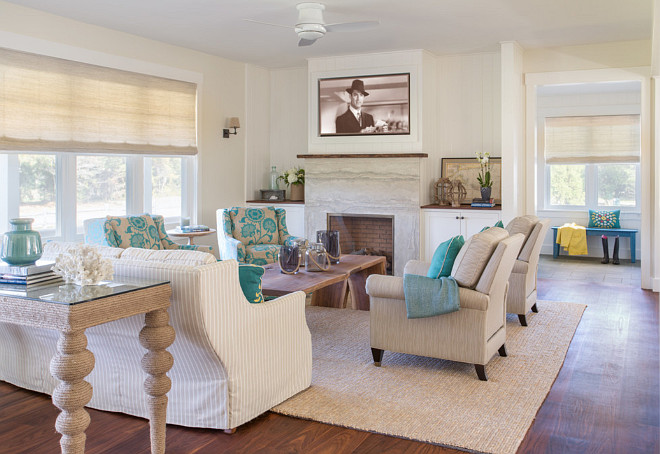Beach House with Neutral Interiors - Home Bunch u2013 Interior Design - beach house living room
