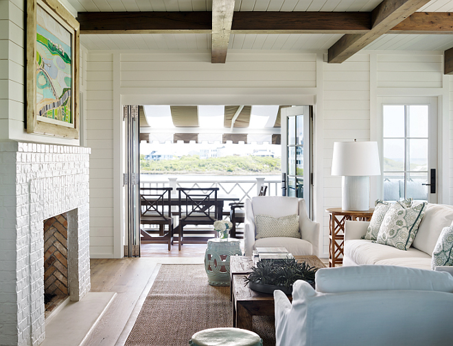 Shingle Style Beach House with Classic Coastal Interiors - Home